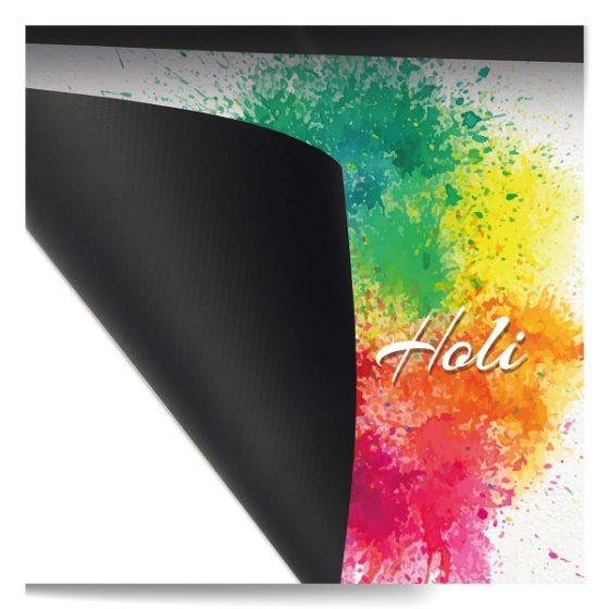 Striscione pubblicitario 450 gr retro nero Outsideprint
